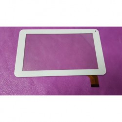 "7"" Blanc: ecran vitre tactile tablette PH20"
