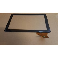 Noir: Écran tactile touch screen digitizer black Polaroid MID1048PXE04.140