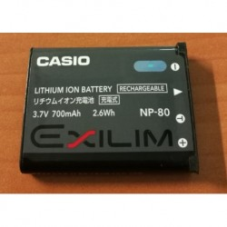 Batterie battery Casio NP-80 Lithium Ion Battery (3.7v 700mAh 2.6Wh) Exilim