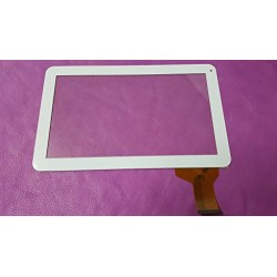 Blanc: ecran tactile touch screen digitizer Polaroid MID1045PXE01""